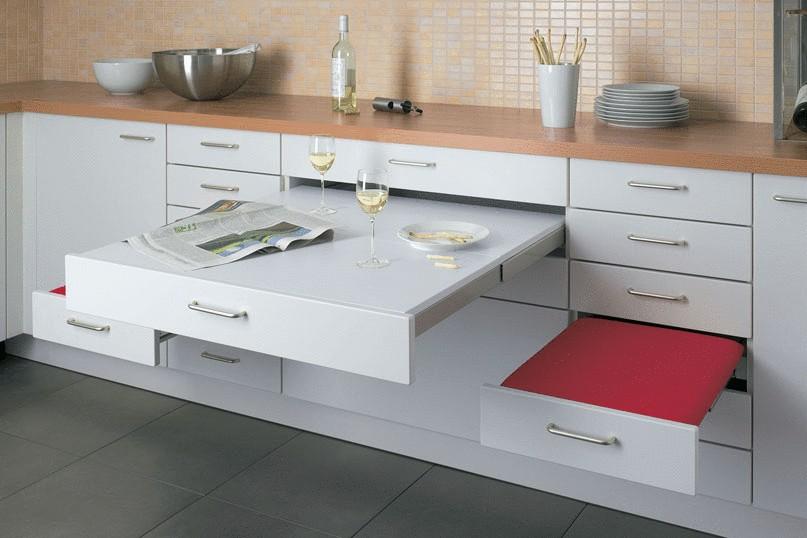 Выдвижная мебель для кухни