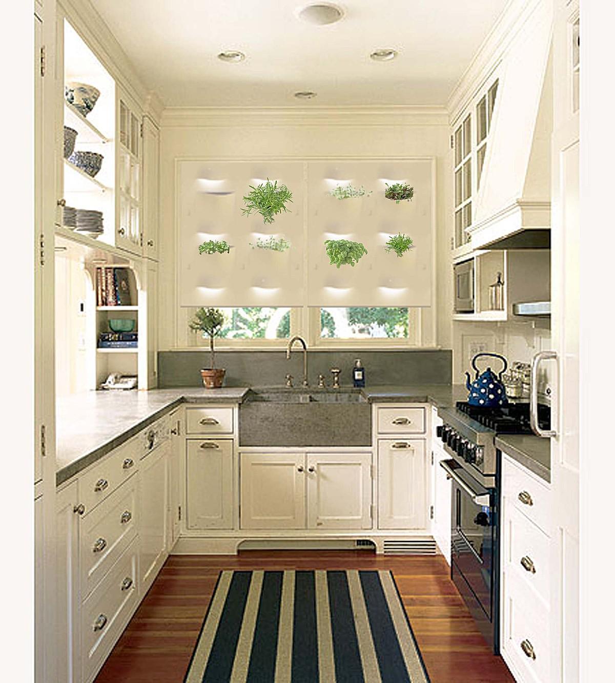 П-образная планировка мебели на кухне