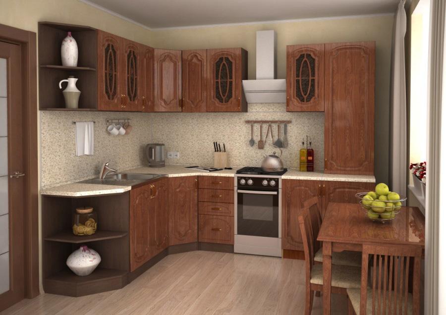 Модульная кухня Настя: кедр глянец