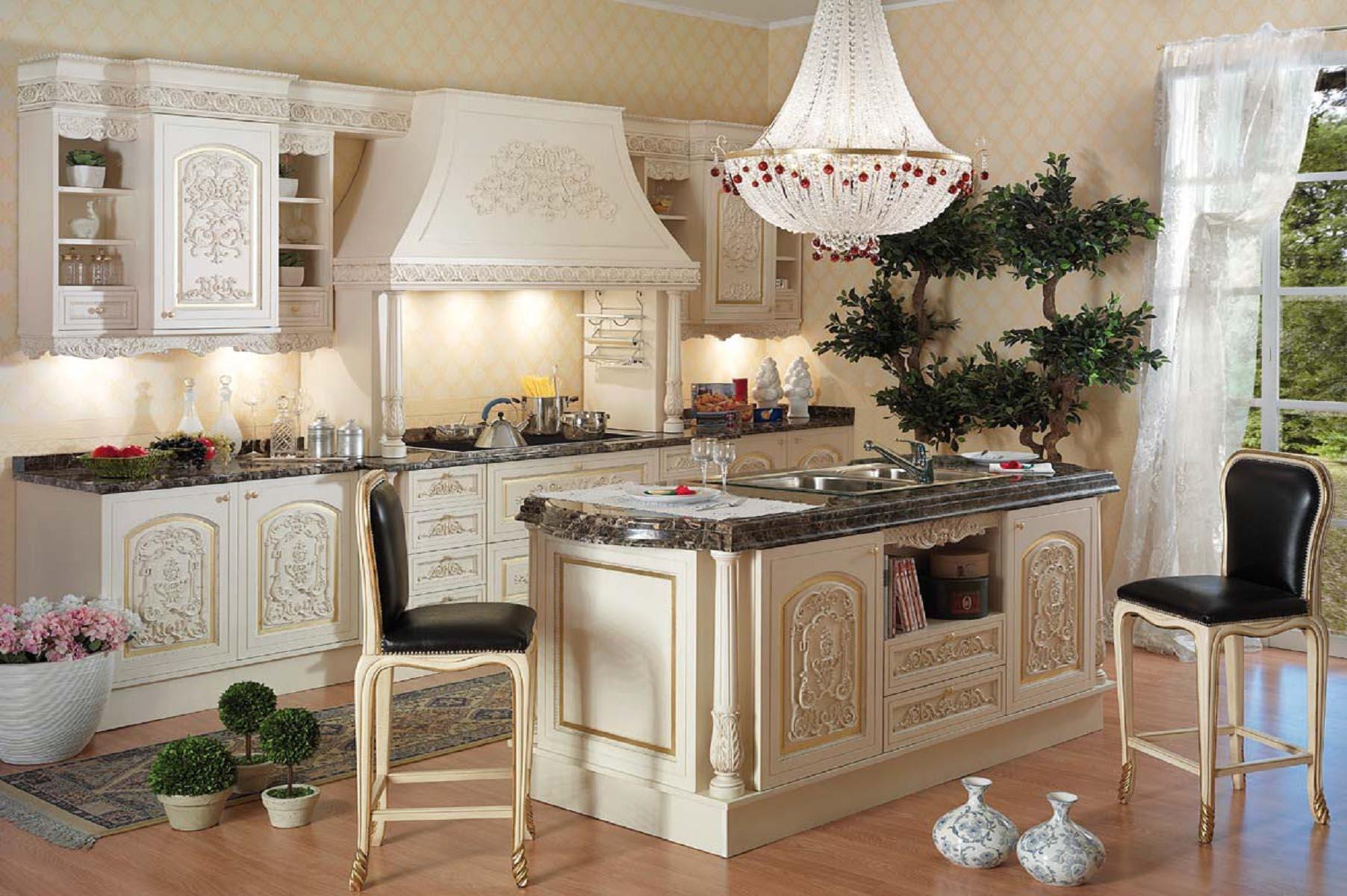 Мебель для маленькой кухни в итальянском стиле