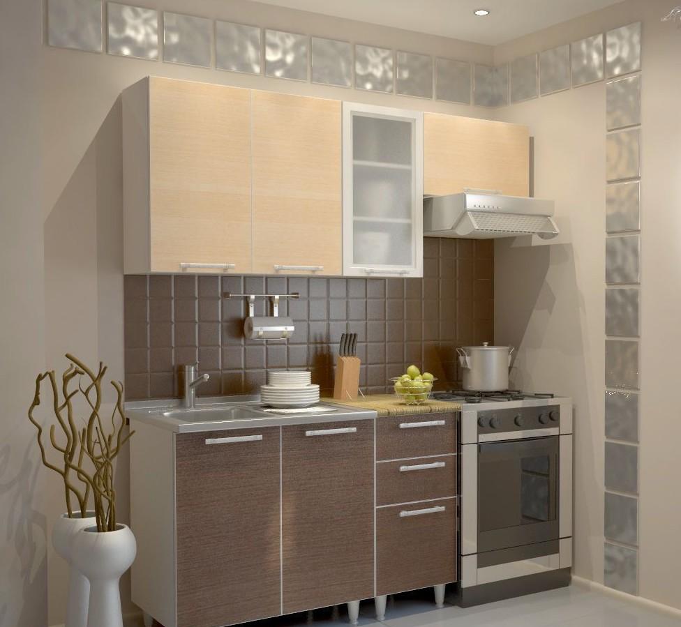 Компактный гарнитур для маленькой кухни