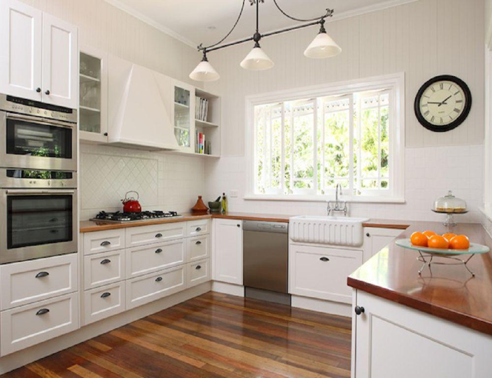 Кухонный гарнитур в тон стен и потолка