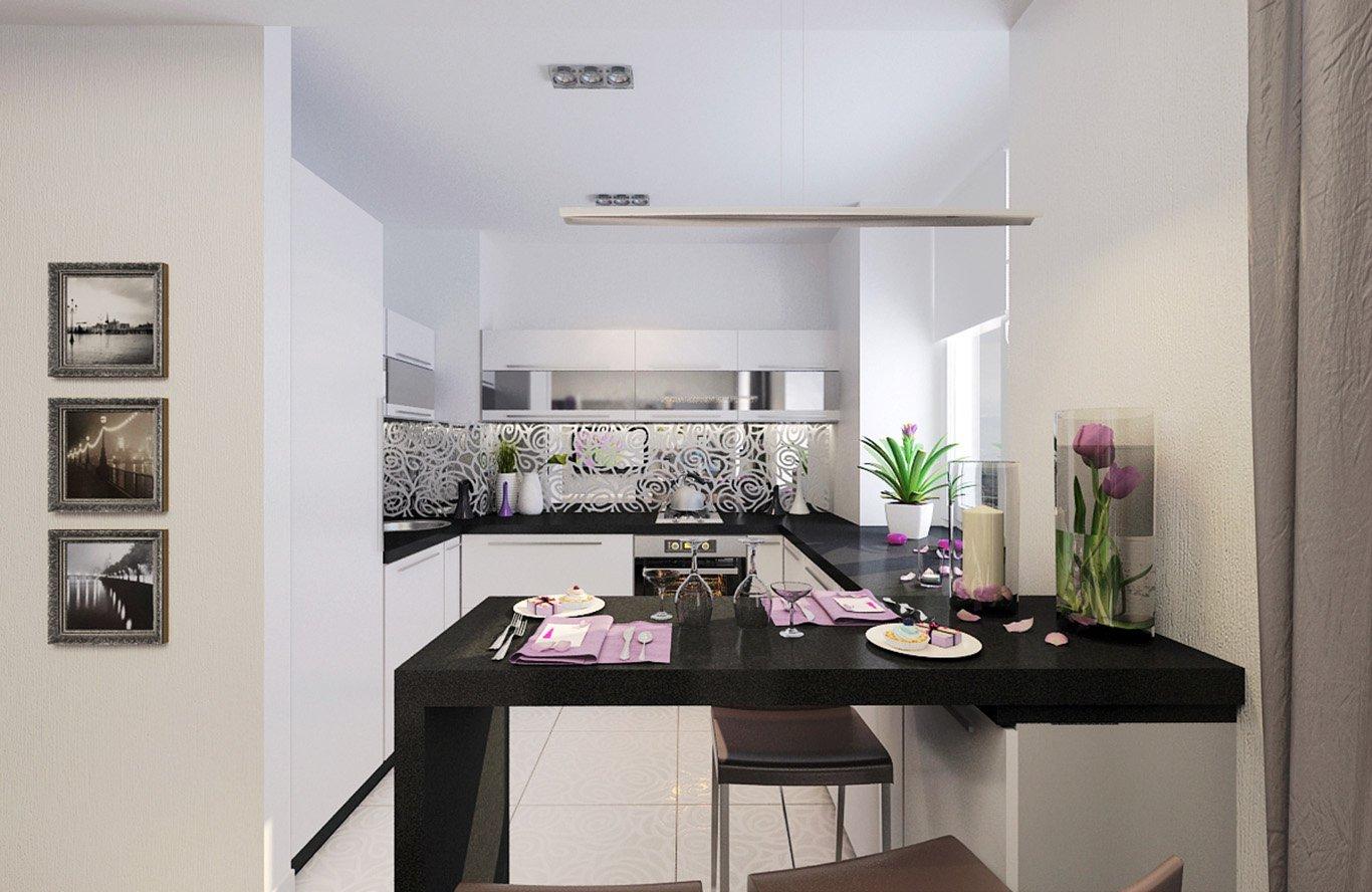 Цветы в качестве декора на кухне