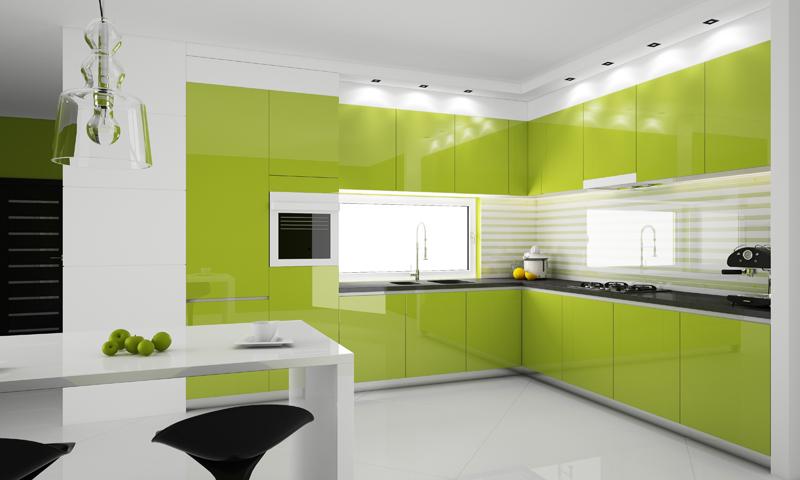 Кухня с черными акцентами на мебель