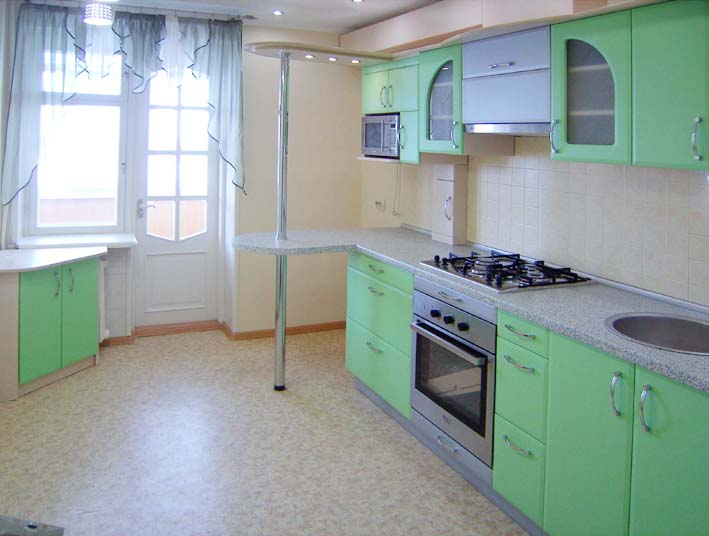 Кухня с фасадами из МДФ