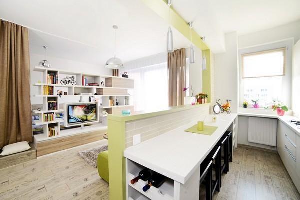Кухня, совмещённая с комнатой отдыха