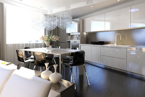 Студия кухня-столовая