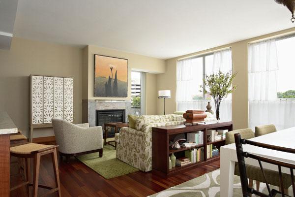 Кухня, столовая и гостиная в одном помещении