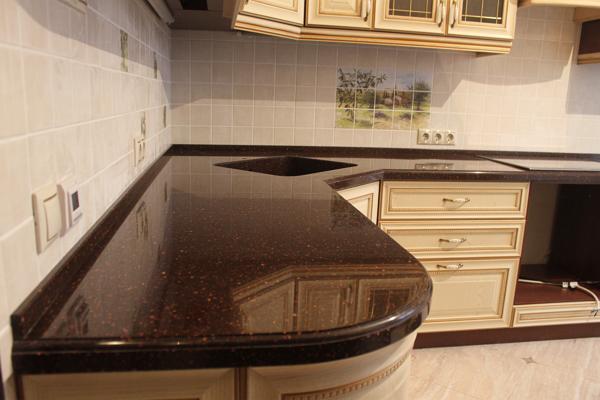 Кухня столешницы искуственный камень как называется столешница на кухонно