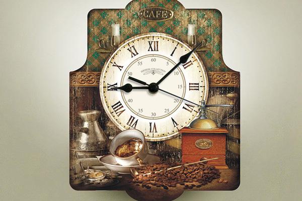Декупаж часов в кофейном стиле