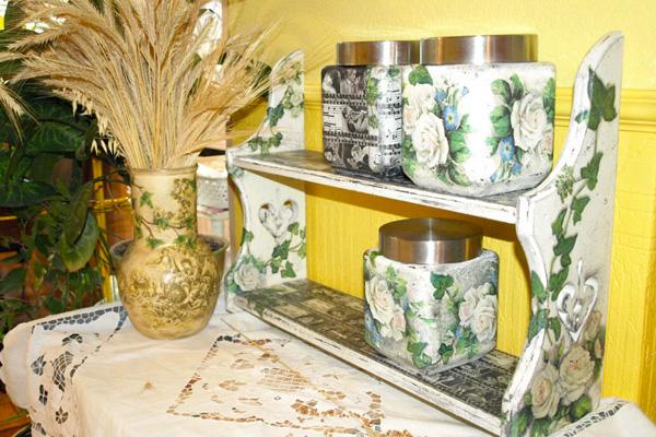 Преображение кухонной полочки и баночек