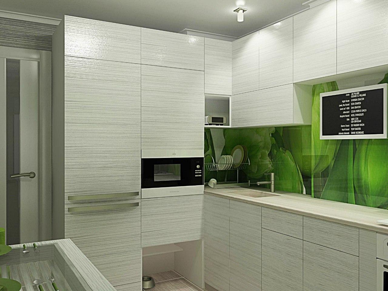 Дизайн модная маленькая кухня