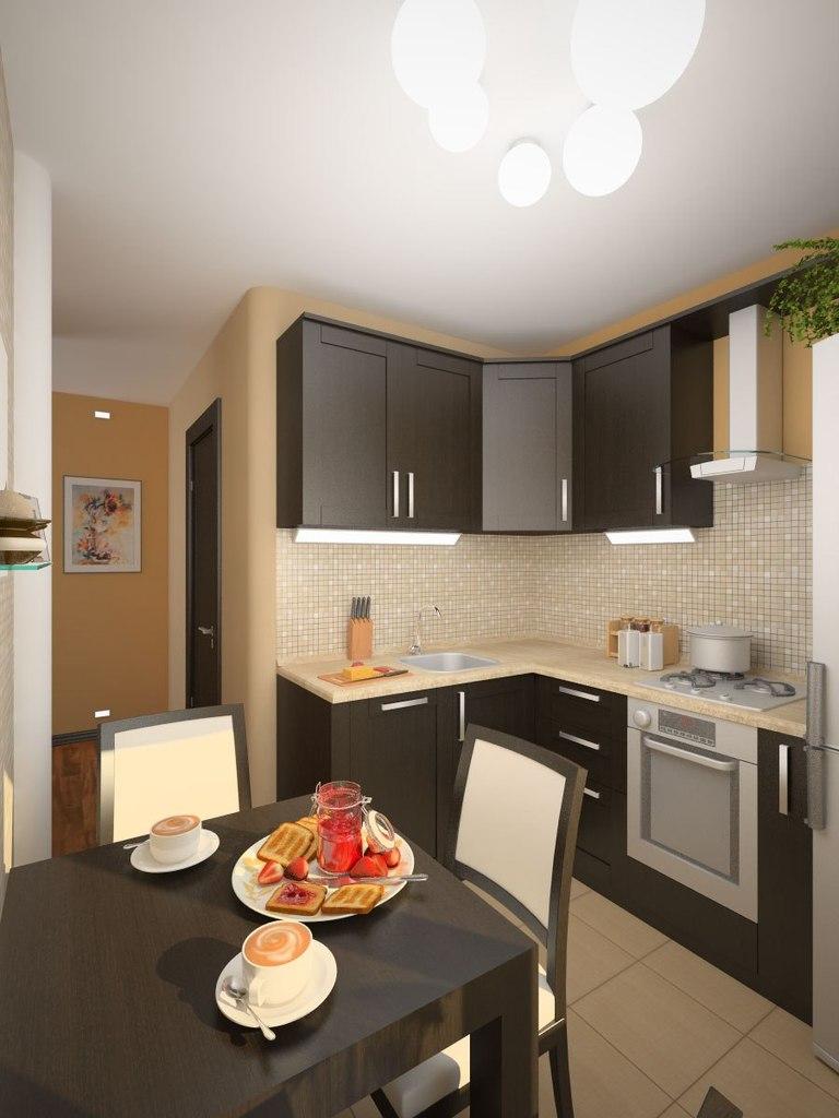 Варианты дизайна кухни 6 квм