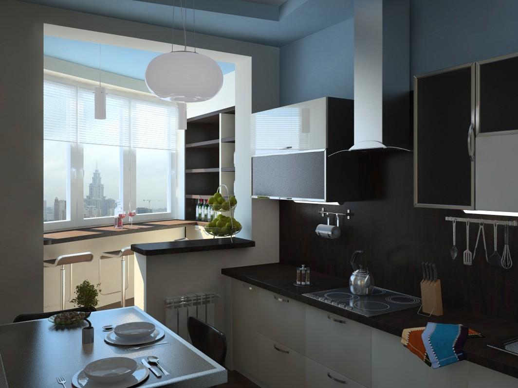 Идеи кухни собоями