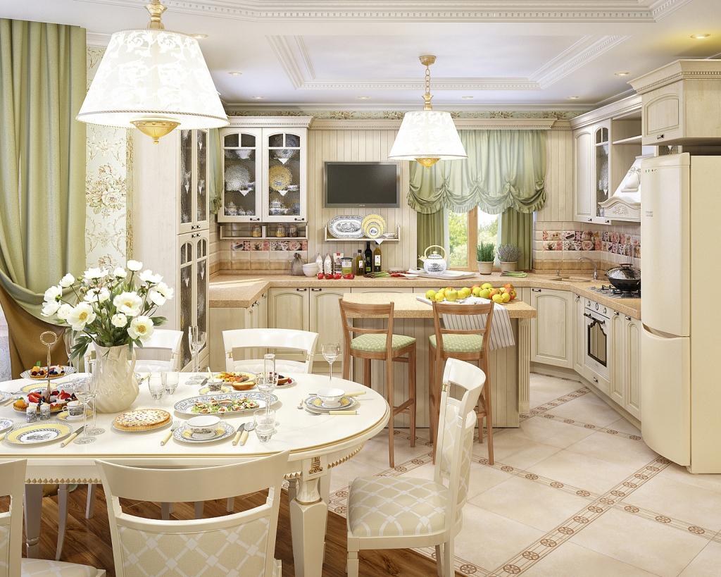 Красивые кухни столовые фото