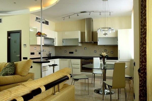 Дизайн помещения кухни-гостиной