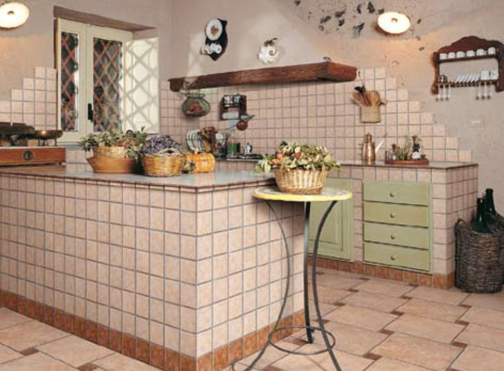 Кафельная плитка в интерьере кухни