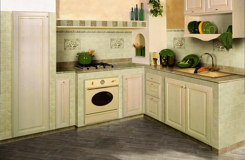 Керамическая плитка на кухне в стиле прованс