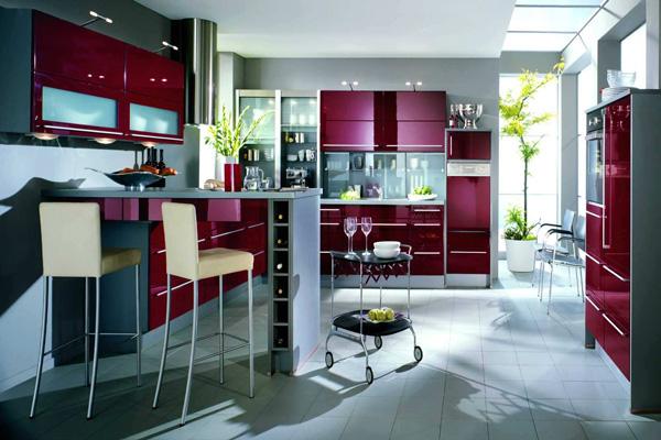 Винный цвет кухни