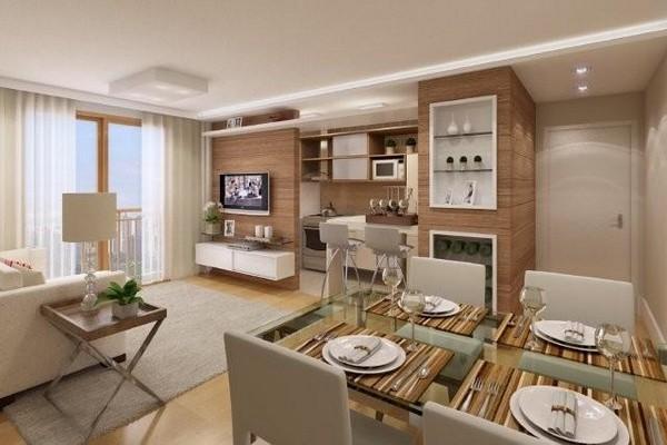 Кухня-столовая совмещёная с гостиной