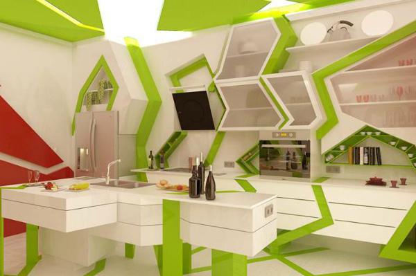 Полки и шкафы в форме геометрических абстракций
