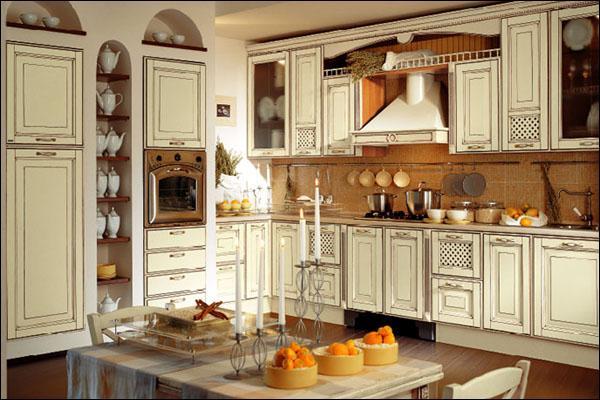 Керамическая посуда на кухне в английском стиле