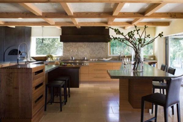 Деревянная кухня в японском стиле