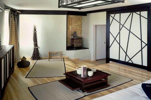 Традиционная японская кухня-столовая