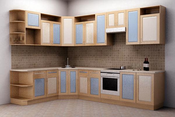 Угловая кухня из модулей