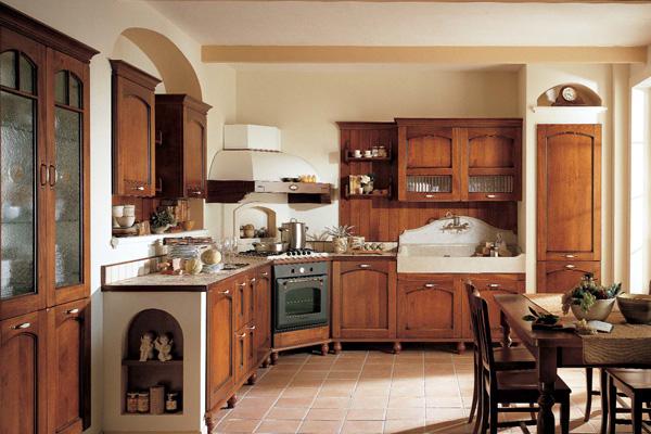 Кухонный уголок под старину из натурального дерева