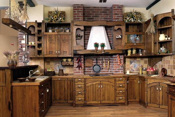 Старинный средневековый дизайн кухни