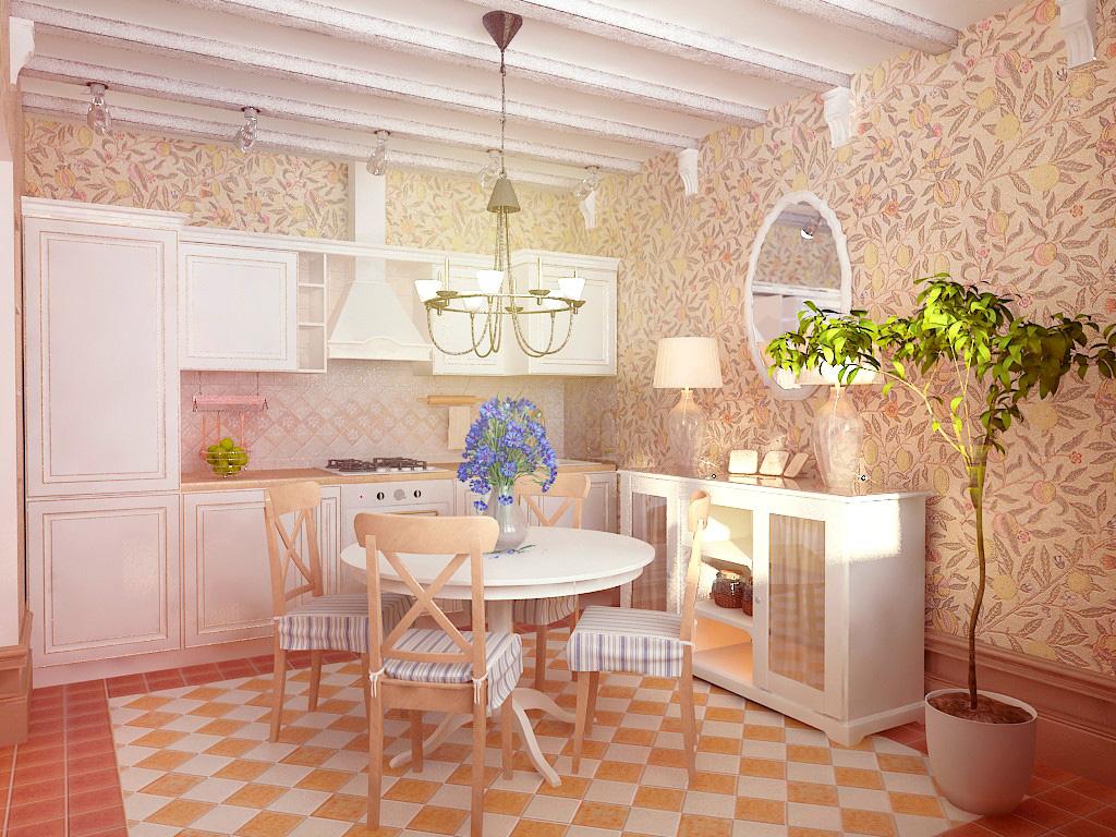 Дизайн кухни в стиле прованс 20 кв.м