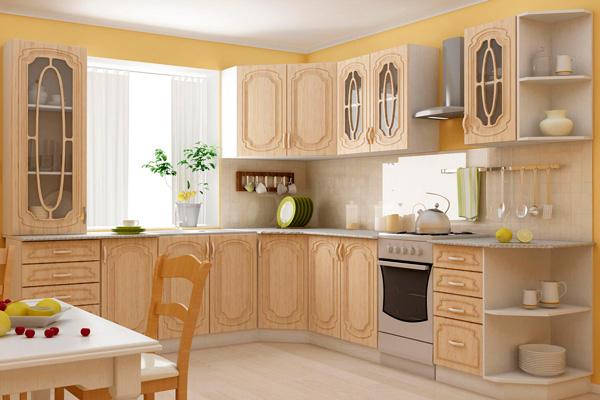 Кухня Анастасия в классическом бежевом цвете