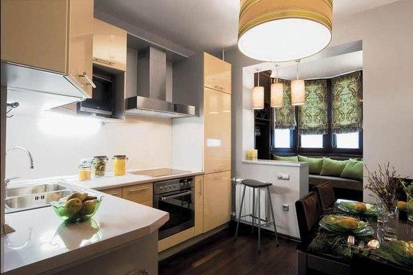 Кухня с гостиной в хрущёвке
