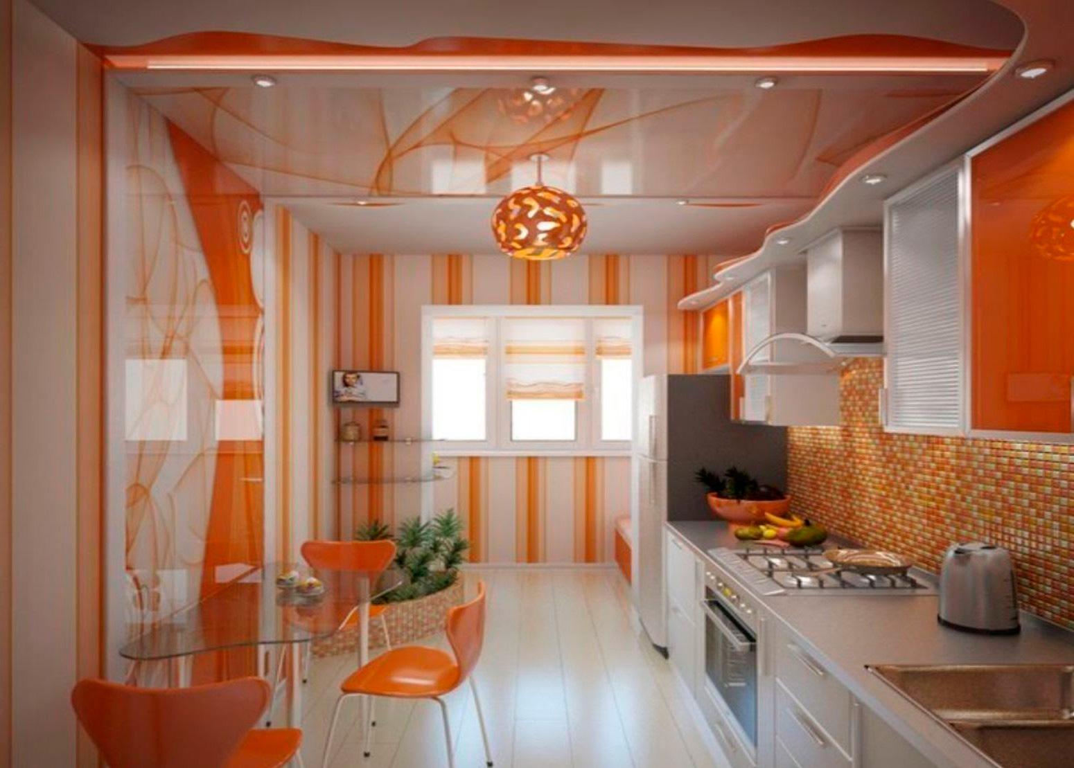 Обои в кухню дизайн фото
