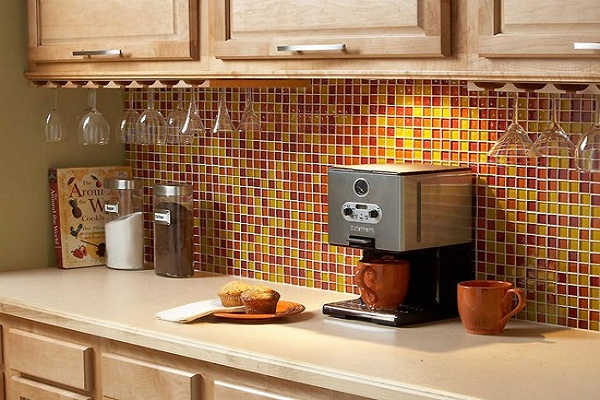 Фартук кухни из плиточной мозаики