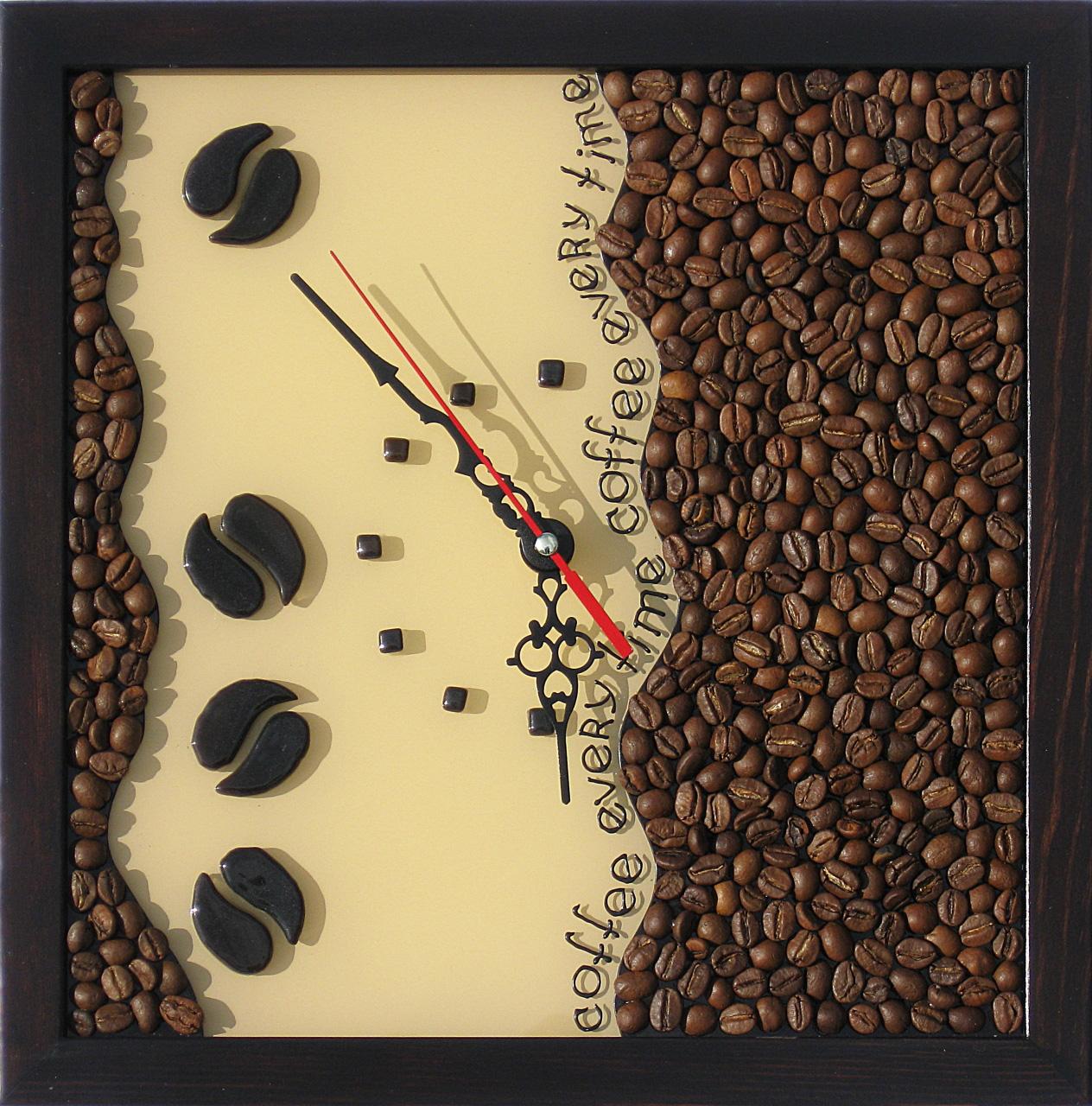Часы кофе своими руками фото
