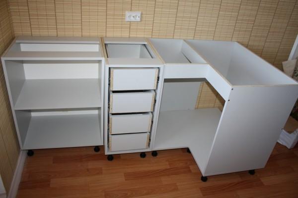 Сборка шкафа с выдвижными ящиками