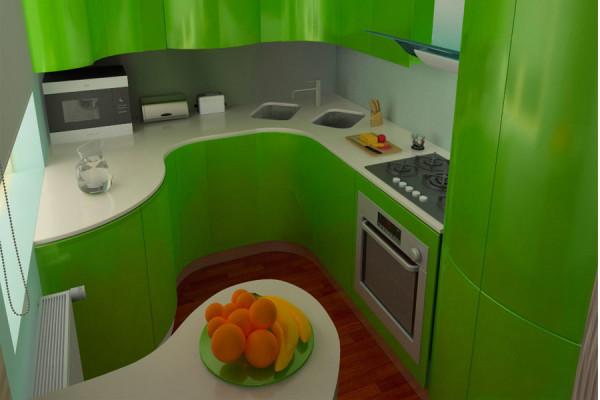 Угловая малогабаритная кухня 5 кв.м