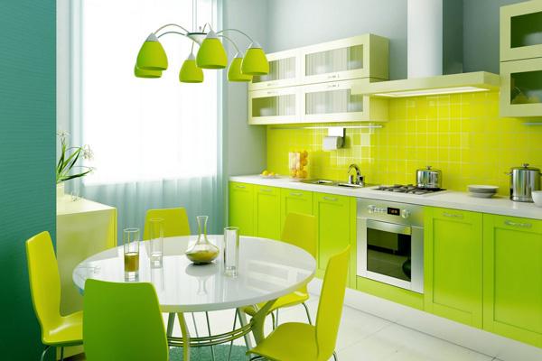 Полупрозрачные шторы для яркой кухни