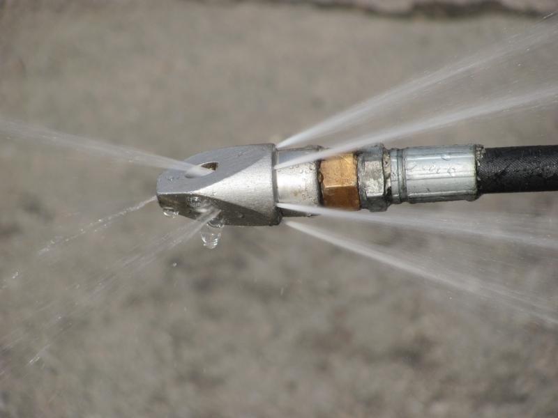 Специальная насадка на шланг для гидродинамической очистки