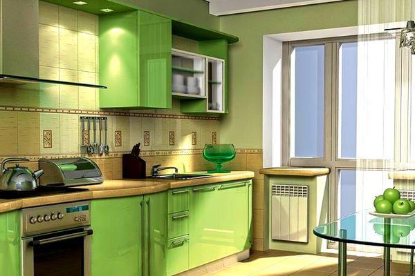 Фасады в спокойном светло-зелёном цвете