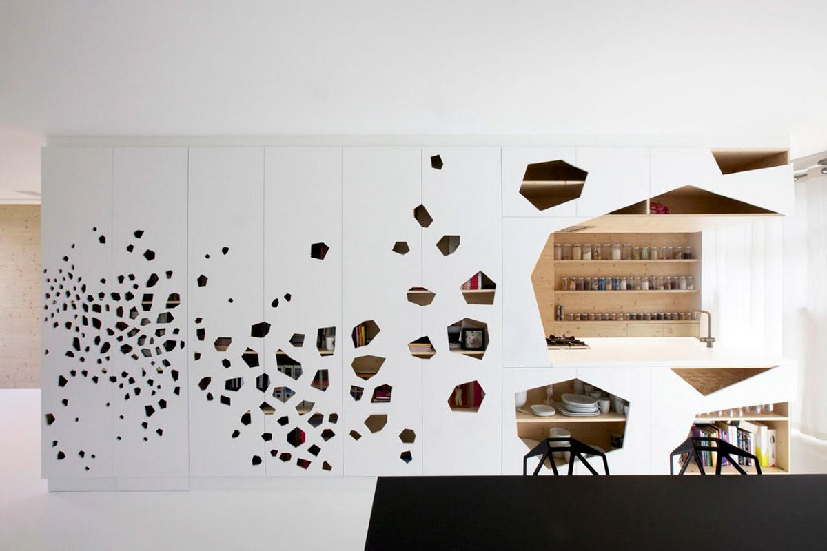 Фрезерованный узор на мебельном фасаде