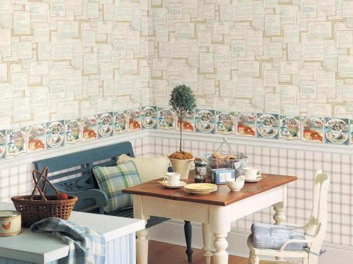 Горизонтальное деление стен с использованием бордюра