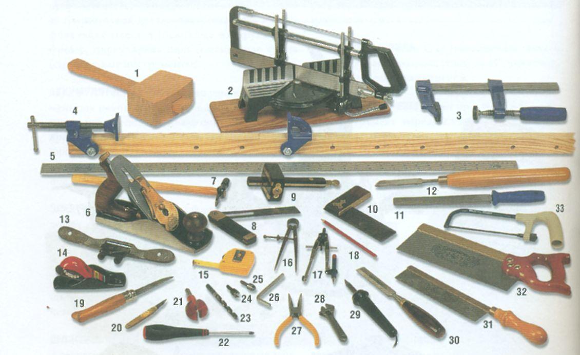 Инструменты для изготовления кухонного уголка