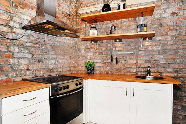 Стеновые панели на кухни под кирпич