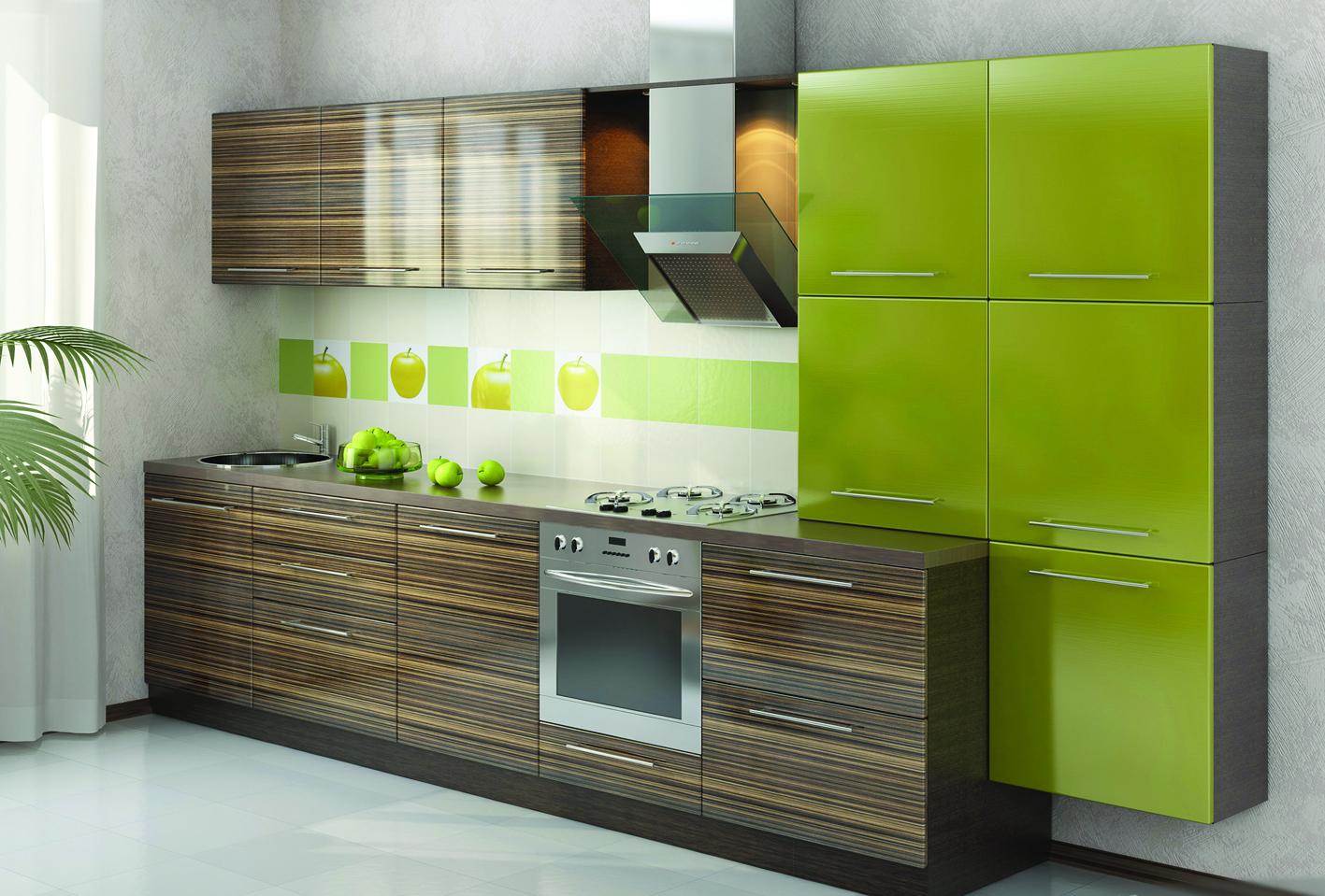 Разноцветный фартук в цвет кухонного гарнитура
