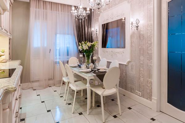 Классический дизайн кухни 16 кв. м