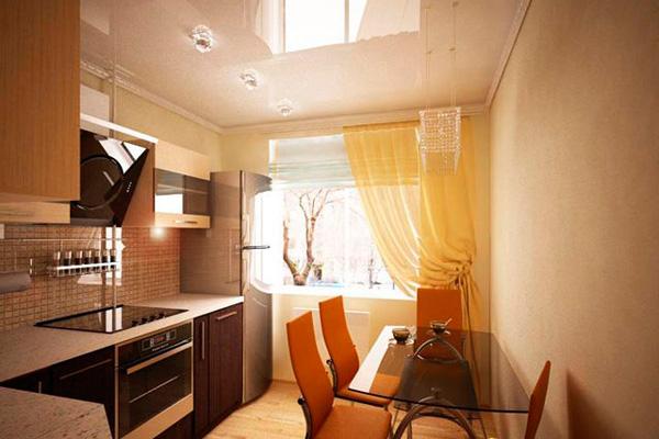 Дизайн кухни 8 кв. метров в теплых тонах