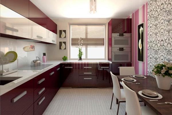 Дизайн Г-образной кухни на 8-ми квадратах